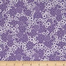 Purple Home Decor Fabric Baby Talk Splash Floral Purple White From Fabricdotcom Designed