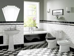 deco bathroom ideas vintage deco glam bathroom tile silver toned hardware frosted
