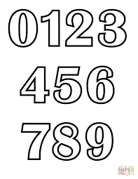 number art exhibition coloring pages with numbers at children