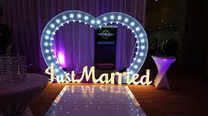 up just married letter set sign with marquee fairground bulbs 2ft
