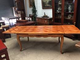 cherrywood parquetry top extension dining table french antiques