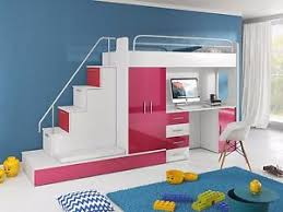 KIDS BEDROOM CHILDRENS BUNK BED WITH  MATTRESSES STAIRS HIGH - Ebay bunk beds for kids