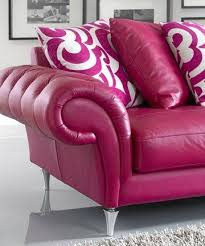 Leather Sofa Styles Lovely Pink Leather Sofa On Home Design Styles Interior Ideas With
