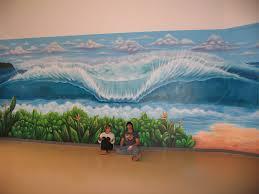 wall murals drew brophy surf lifestyle art pipeline wall mural artwork c drew brophy 36 foot by 16 foot