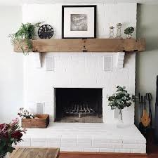 it only took a few years to convince timair to paint our fireplace brick white haha couldnt be more in love with how it turned out and how bright it