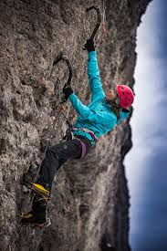 with picks ice climbing programs for women