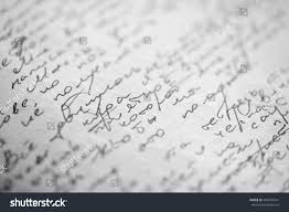 who writes white papers hastily scrawled handwriting cyrillic text using stock photo hastily scrawled handwriting of cyrillic text using black ink on white paper with visible imprints