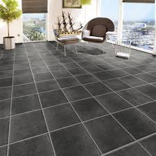 Random Stone Effect Laminate Flooring Palladino Dark 7mm Laminate Tile