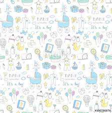 care baby shower seamless background of baby shower vector illustration icons