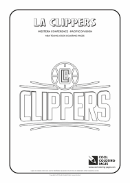 coloring pages basketball la clippers u2013 nba basketball teams logos coloring pages cool