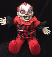 horror talking creepy killer clown doll scary haunted house prop
