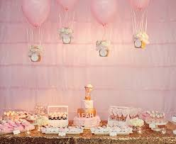 baby girl birthday themes simple details beautiful buffets hot air