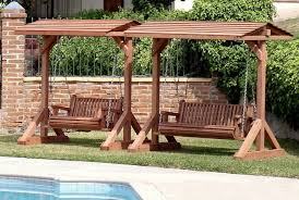 patio furniture patio swing bench cushions wood planspatio deck