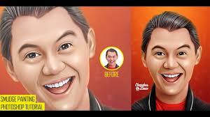 tutorial smudge painting indonesia full photoshop tutorial smudge painting effect caricature