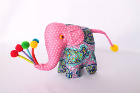 flowers and balloons happy polka dotted baby elephant 2 amoeba pattern pink w