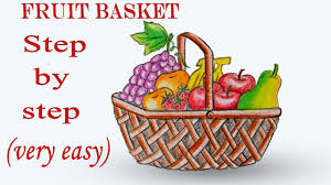 fruit basket how to draw fruit basket step by step easy