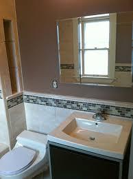 Basement Chair Rail - bathroom remodel lakewood ohio by remodel me today 3 21 13