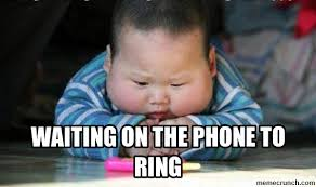 Baby On Phone Meme - on the phone to ring