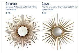 interior u0026 decor fascinating martha stewart sunburst mirror for
