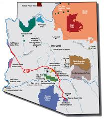 Colorado River On A Map by Arizona Water Is Life