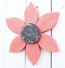 flower wall sculpture distressed decor wreath