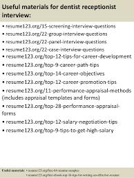 top 8 dentist receptionist resume samples