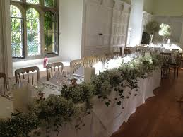 natural gypsophila u0026 ivy top table arrangement ahh pinterest