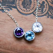 birthstone mothers necklace birthstone bezel necklace for unique mothers necklace