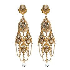 gold chandelier earrings miriam haskell gold chandelier earrings m03964 e01 lovemyswag