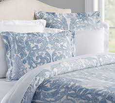 blue bed linen shop pottery barn au