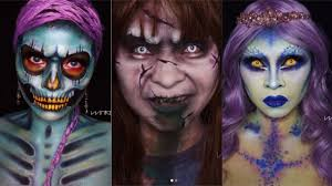 top halloween makeup top 15 easy halloween makeup tutorials compilation 2017 youtube