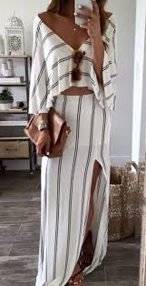 white striped bandeau backless boat neck maxi dress the