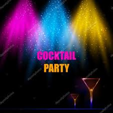 cocktail party effect light scene with cocktail party background u2014 stock vector