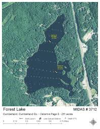 Cumberland Lake Map Lakes Of Maine Lake Overview Forest Lake Goose Pond