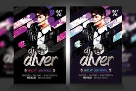live dj flyer template psd v2 flyer templates creative market
