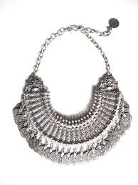 silver boho necklace images Gypsy bohemian beachy chic bib statement necklace boho festival jpg