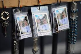 pope francis souvenirs pope francis trinkets sell briskly near vatican otago daily