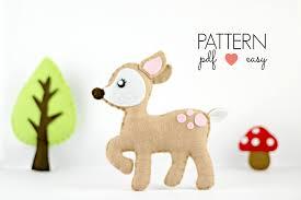 deer sewing pattern deerfelt pattern deer pdf pattern felt