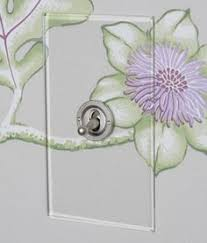 clear light switch cover hallway makeover switch plate covers glass and wallpaper