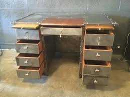 iron leather and oak industrial desk 1990s for sale at pamono