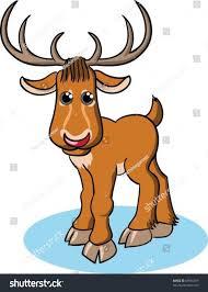 funny cartoon reindeer stock vector 88956019 shutterstock
