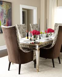 Host Dining Chairs Eliza 96 L Antiqued Mirrored Dining Table Dining Room And Room