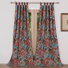 half moon leah window curtains set hayneedle