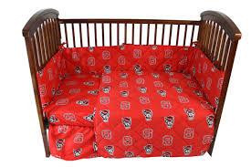 nc state baby crib bedding nc state wolfpack baby crib set