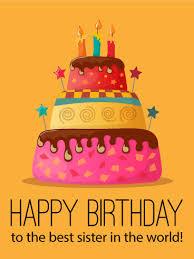 to the best happy birthday cake card birthday