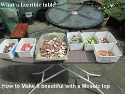 How To Make A Mosaic Table Top How To Design Mosaic Table Top With Ceramic Tiles Hubpages
