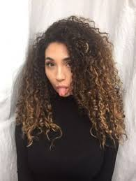 balayage hair painting naturally curly hair dark brown to dark