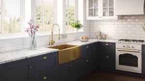 bowl kitchen sink for 30 inch cabinet ruvati brass tone 30 inch apron front matte gold stainless steel farmhouse kitchen sink single bowl rvh9660gg