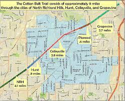 hurst map cotton belt trail city of hurst tx