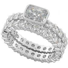 rings zirconia images Ladies 925 sterling silver full eternity cubic zirconia rings set jpg